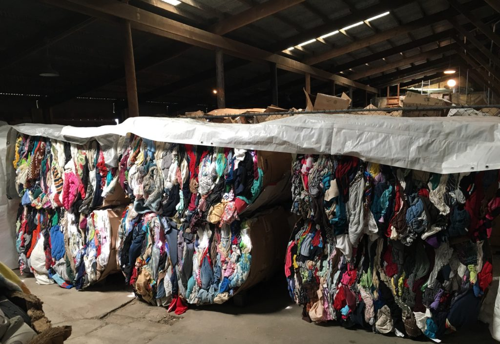 The bales are sold to a commodities market for reuse or resale.